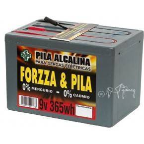 PASTOR - PILA FORZA 9V, 365W/HORA ALCALINA