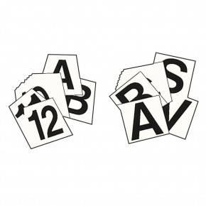 Juego de números y letras adhesivas para bases de ostáculos