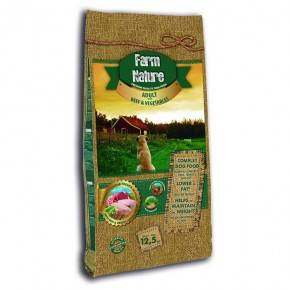FARM NATURE - 12,5 KG. ADULTO BUEY Y VERDURAS-GAMA REMIUM