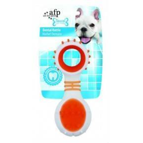 Juguete. DENTAL DOG Chews  Rattle Rojo 11,6 cm