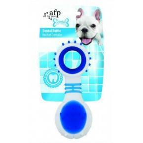 Juguete. DENTAL DOG Chews  Rattle Azul 11,6 cm