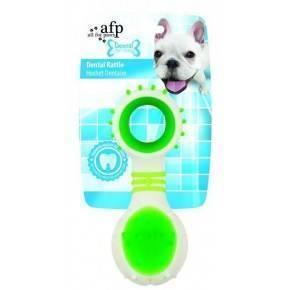 Juguete. DENTAL DOG Chews  Rattle Verde 11,6 cm
