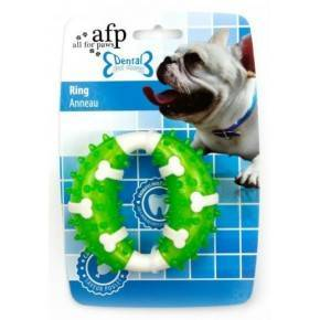 Juguete DENTAL DOG Chews  Aro Verde- 10,3 cm