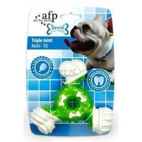 Juguete DENTAL DOG Chews  Triple  Verde 12,5 Cm.