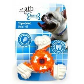 Juguete DENTAL DOG Chews  Triple  Rojo 12,5 Cm.