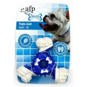 Juguete DENTAL DOG Chews  Triple  Azul 12,5 Cm.