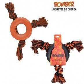 JUGUETE CON CUERDA BOMBER TRIPLE TOSS 30 CM.