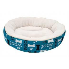 Cunas Woof Dogit Redonda Blanco/Azul 53 Cm
