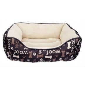 Cunas Woof Dogit Rectag.Blanco/Negro 51x61 Cm