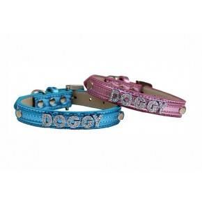 Collar Brightdoggy azul-10 mm x 22/42 cm