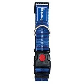Collarplus XL nylon Azul Medidas: 40mm x 55/75cm