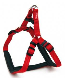 Arnés Ergo  de  Nylon acolchado  Rojo: 20mm x 50-71cm