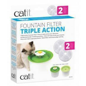 CATIT Cartucho Triple Acción Beb. Flor 2pc