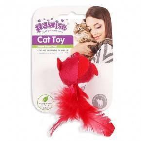 Juguetes Hi-Pile Gatos Pawise 15 Cm Pajaro-Rojo