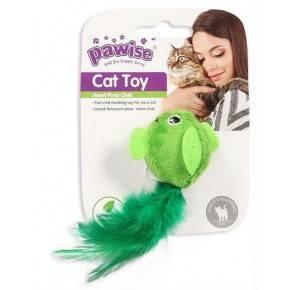 Juguetes Hi-Pile Gatos Pawise 15 Cm Pajaro-Verde
