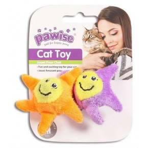 Juguetes Hi-Pile Gatos Pawise 15 Cm Estrella 2-Naranja-Violeta