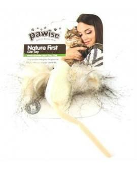 Nature First Gatos Pawise Raton Crazy 7 Cm-BLANCO