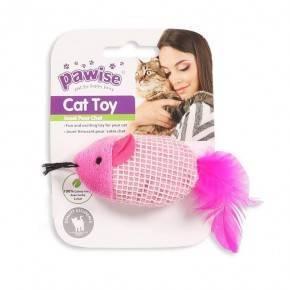 Juguetes Catnip Gatos Pawise 9 Cm Ratón-ROSA