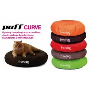 Puff Curve  Verde : 40x10 cm