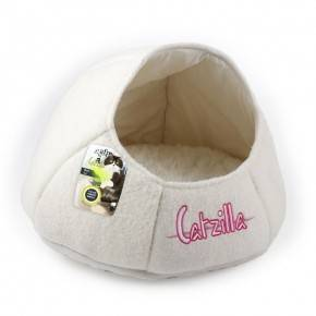ALL FOR PAWS CAMA NIDO CATZILLA PARA GATOS BLANCO