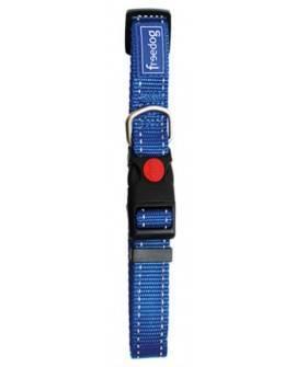 Collar Nylon Reflectante Azul. 1,0x20/35cm
