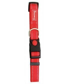 Collar Nylon Reflectante Rojo. 1,0x20/35cm