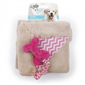 Mantita Cachorro LITTLE BUDDY Hueso Rosa 50cm