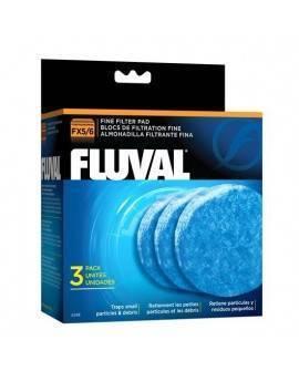 FLUVAL FX5/6 FOAMEX FINO 3 UNIDADES PACK.
