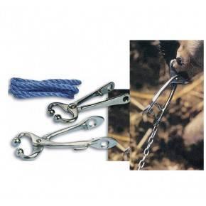 Nariguera en acero cromado con cordón de nylon