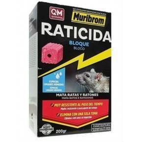 QM Bromadiolona Cebo en Bloque Raticida-Ratonicida-Presentación: Estuche de 150 gr.