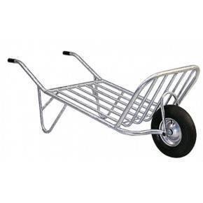 Carretillas metálicas con 1 rueda.