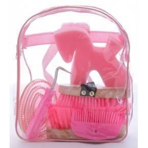 Kit de limpieza con mochila.Rosa