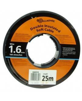 Cable doble aislado de 1,6 mm (rollo 50 m)-GALLAGHER