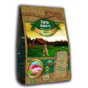 Farm Nature - 2,5 kg. Adulto Buey y Verduras -Gama Premiun